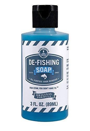 - De-Fishing Soap All Natural and Biodegradable Liquid SOAP for Odor Removal-Multipurpose Great for Fishing, Camping or Cooking (3 Fluid Ounces)