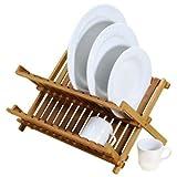 Natural Living Bamboo Collapsible Dish Rack