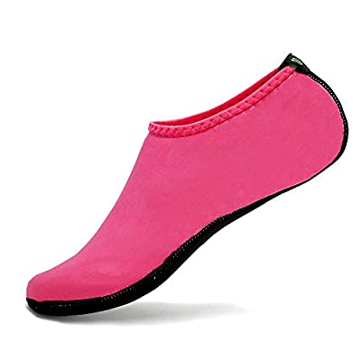 CIOR Water Skin Shoes Aauq Socks With New Upgraded Durable Outsole, XXS: US Little Kids 10-11 M, Pink