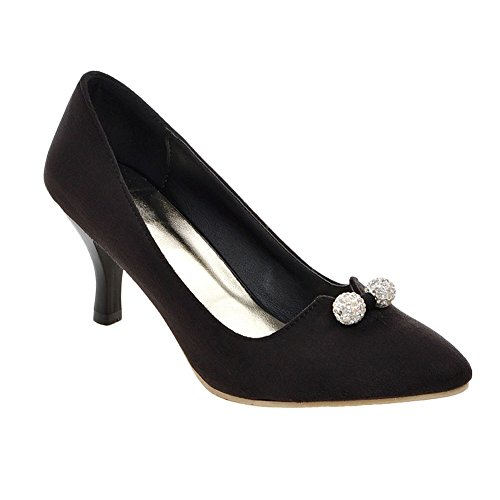 Charm Foot Donna All Weather Gonnellino Elegante Dress Pumps Nero