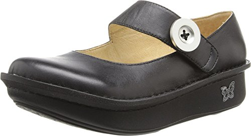 Alegria Paloma Womens Mary Jane Shoe Black Leather Wide 10 W US