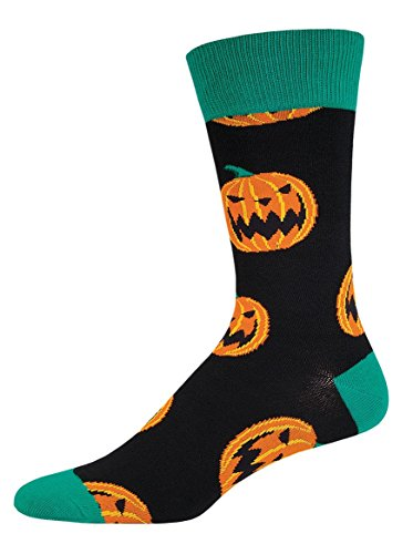 Socksmith Mens Halloween Novelty Socks - Pumpkins - Black (Socks Pumpkin)