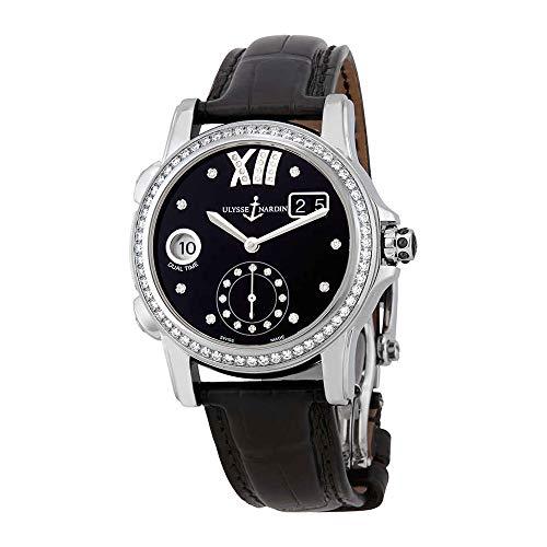Ulysse Nardin Dual Time Black Dial Diamond Automatic Ladies Watch 3343-222B-30-02 ()