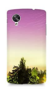 Amez designer printed 3d premium high quality back case cover for LG Nexus 5 (Trees and sky)