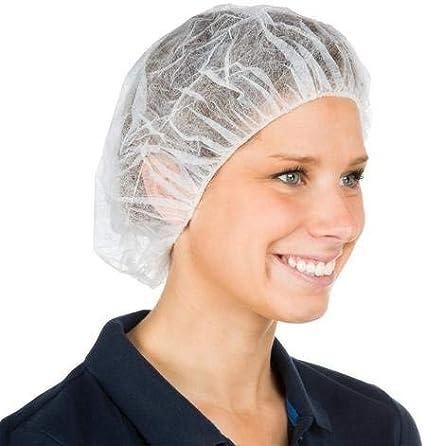 """Nurse//Bouffant Cap Hairnets - 21/"""" White 1000 Pieces 10 Bags"""