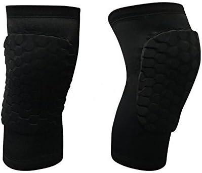 ACELIST 2パック(1ペア)保護圧縮Wear – メンズレディースバスケットボールブレースサポート – Best to Immobilize,ストラップ&ラップ膝のバレーボール、フットボール、連絡スポーツ 黒-Short Type XLarge