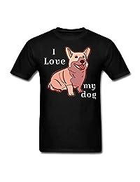 Hocoo Baby Boys Girls Cotton Shirt I Love My Dog T-Shirt
