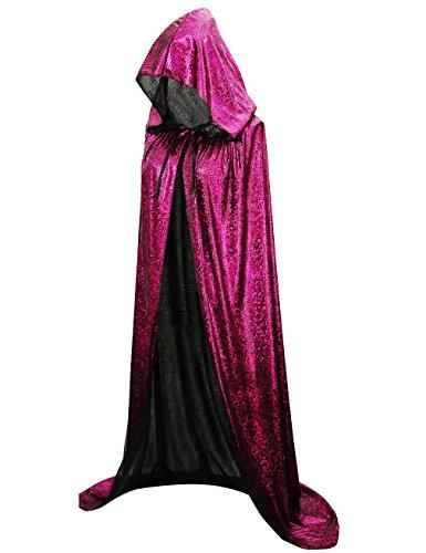 Hamour Unisex Halloween Cape Full Length Hooded Cloak Adult Costume, 59