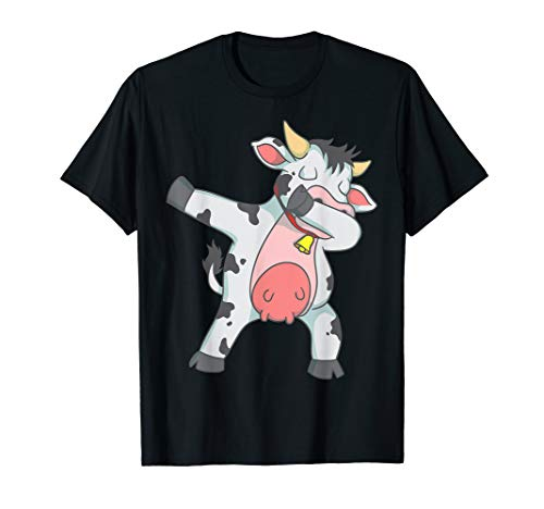 Dabbing Cow Cool Livestock Cattle Fans Funny Dab Dance Gift T-Shirt