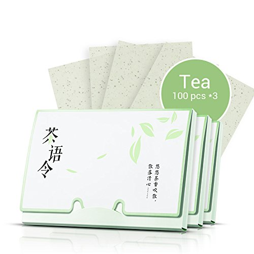 - Blotting Paper : Natural Green Tea Oil Absorbing Tissues 300 Counts, Easy Take Out Design - Top Oil Blotting Paper, Premium Handy Face Blotting Sheets - Facial Skin Care or Make Up