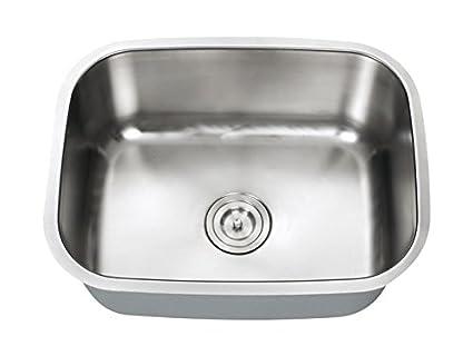 Universe Small single bowl kitchen sink undermount 23-1/2\