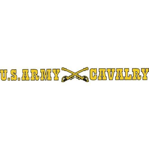 Cavalry Sticker - U.S. Army Cavalry Clear Window Strip