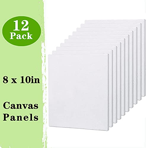 12 PACK OF BLANK ARTIST'S CANVASES