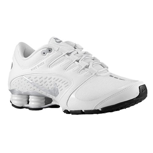 Nike WMNS Shox Vaeda White/Metallic Silver Women's Running Shoes Size 11 (Nike Womens Shox Vaeda Synthetic Running Shoes)