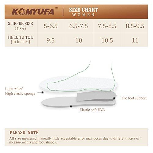 Komyufa Hiver Femmes Chaudes Doux Flip Flop Maison Pantoufle Intérieure Et Extérieure Beige