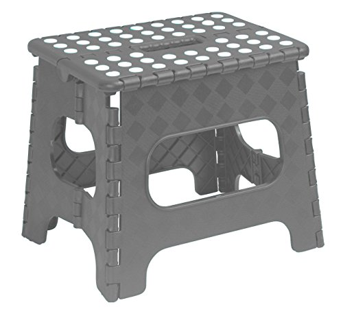 Superior Folding Step-Stool 13 Inch (Grey) by Superior Performance Inc