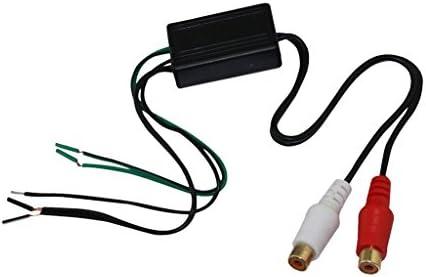 TISHITA 2個 カー オーディオ スピーカーワイヤー-Rcaライン出力 コンバーター ケーブル