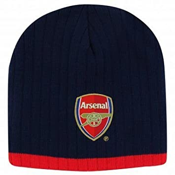 1968511479a Official Arsenal FC Crest Beanie Hat  Amazon.co.uk  Sports   Outdoors