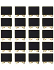 Mini Chalkboards, 20 Pcs Wood Small Chalkboard Signs Place Cards for Weddings, Parties, Table Numbers, Food Signs and Special Event Decoration