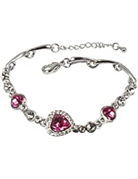 Women's Bracelet - Heart Shaped Swarovski Elements Crystal