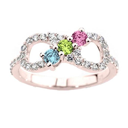 NANA Infinity Mothers Ring with 1 to 6 Simulated Birthsto...