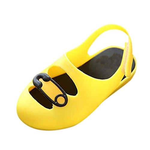 Hzjundasi Baby Jungen M?dchen S?ugling Anti-Rutsch L?ssige Weich Gelee Flache Schuhe Kleinkind Kinder Strand Sandalen Regen Stiefel Gelb