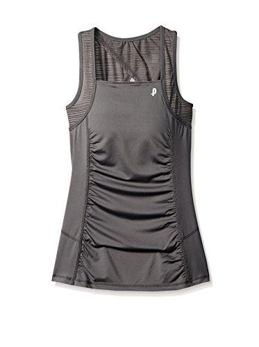 Penn Women's Activewear Tank: Teardrop Mesh Cami Bra Top, Sleeveless Sports Top,Castle Rock,Large