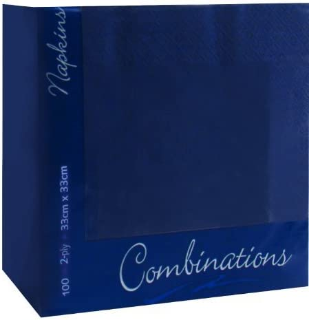 100 Regatta Blue 2Ply Paper Napkins Serviettes Tissues 33cm Party Tableware Catering by JeeJaan
