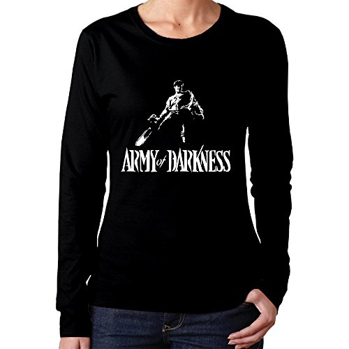 Womens Ladies Army Of Darkness Wallpapre Long Sleeve Vintage Crew Neck Tshirt
