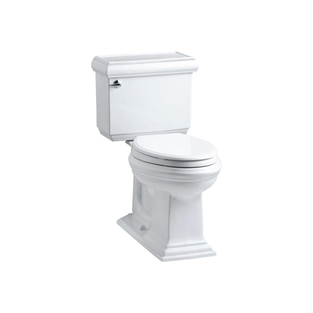 Kohler K-3818-0 Memoirs Comfort Height Two-Piece Elongated 1.6 gpf Toilet with Classic Design, White by Kohler
