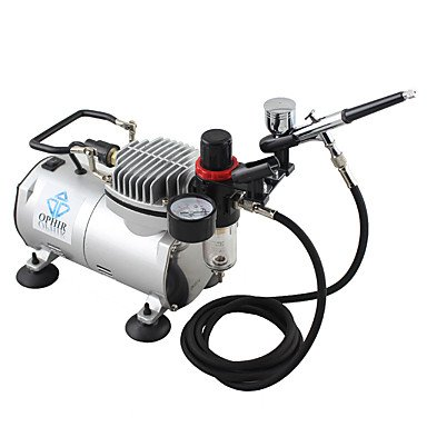 110V,220V Dual Action Airbrush Compressor Kit for Airbrushing Tattoo Hobby Cake Decoration , 110v