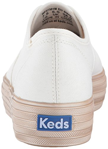 Keds Womens Triple Shimmer Fashion Sneaker White/Gold oqZohJt2bi
