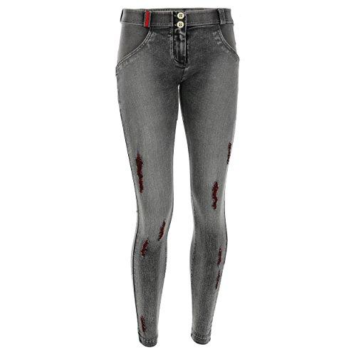 up Regular Grigio Vita Skinny Super Grigie Freddy E Wr Lunghezza Distressed Pantalone Denim Jeans cuciture gHcfwnZqE