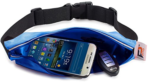 Running Belt Waist Pack by Pifito (TM) - Outdoor Pouch Bag for Sports, Hiking, Exercise, Walking, Fitness, Jogging or Gym Workout - Durable Fanny Pack Fits all Phones (Blue)