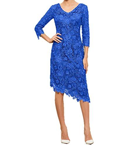 Ballkleider Festlichkleider Charmant Damen Asymettrisch Partykleider Abendkleider Lang Royal Blau Brautmutterkleider Etuikleider rqXw0qg