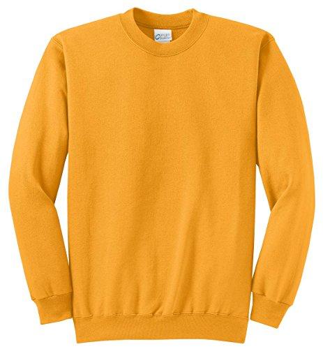 Port & Company Men's Classic Crewneck Sweatshirt XL (Gold Crew Sweatshirt)