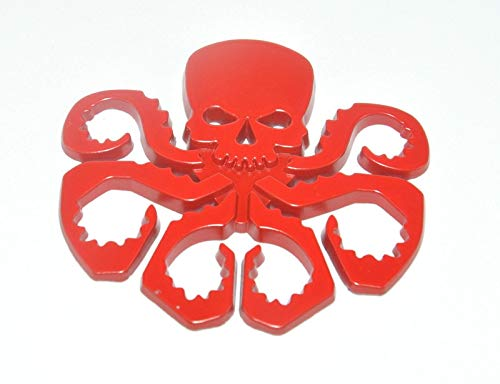 (car-sticker-3d: 1PC 3D Hydra Marvel Skeleton Skull Animal Hot Metal Stickers Car Styling Motorcycle Accessories Badge Label Emblem Car Stickers )