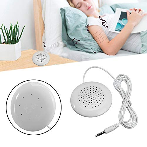 DICPOLIA Speakers Pillow Speaker, Soft Speaker Audio Clarity with Volume Control, Adjustable Sleep Timer - Solutions for The Sleepless (White)