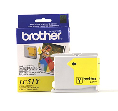 - Brother Innobella LC51Y Ink Cartridge, 400 Page Yield, Yellow
