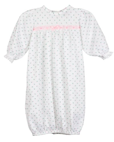 (Laura Dare Baby Girls Rosebud Jersey Infant Sacque Sleeper, PR Pink )