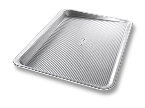 - USA Pan Bakeware Aluminized Steel Cookie Scoop Pan, Large