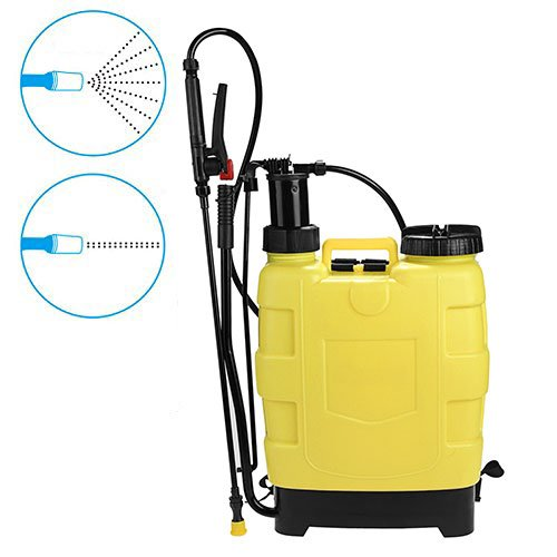 Meditool No Leak 5 Gallon Pressure Sprayer Knapsack, 20L Pump Backpack Sprayer For Lawns and Gardens, Fruit Trees, Fertilizer, Herbicides and Pesticides, and Car (Backpack Piston Pump Sprayer)