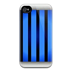 Maria N Young Case Cover Protector Specially Made For Apple Iphone 4/4S Case Cover Black And Blue