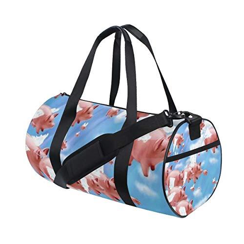 (SLHFPX Sports Bag Pigs_Fly Mens Duffle Handbag Travel Table Tennis Bags Gym Bag )