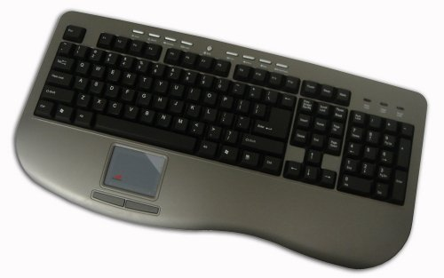 Adesso Win-Touch Pro USB Keyboard with Wristsaver (AKB-430UG) 2 Button Ps/2 Glidepoint Touchpad