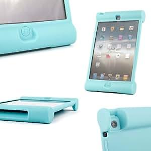 HOTSALEUK goma azul impacto y choque de fácil agarre de Caso y cubierta personalizado para iPad 3, iPad 2 y el nuevo iPad 4 con pantalla Retina (4th generation)