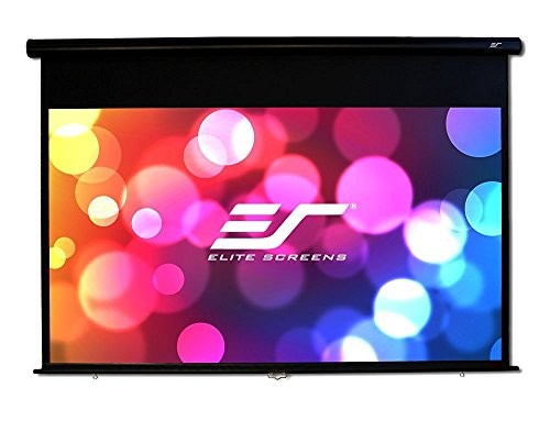 (Elite Screens Yard Master Manual Series, 120-inch Diagonal 16:9, Outdoor Pull Down Projection Manual Projector Screen with Auto Lock,OMS120HM)