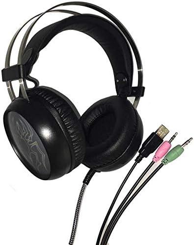HNSYDS ブラックコンピュータゲームのイヤホンは、ジャックの様々なソフトで通気性の快適なイヤーパッドと自由に挿入することができます着用します ゲーミングヘッドセット