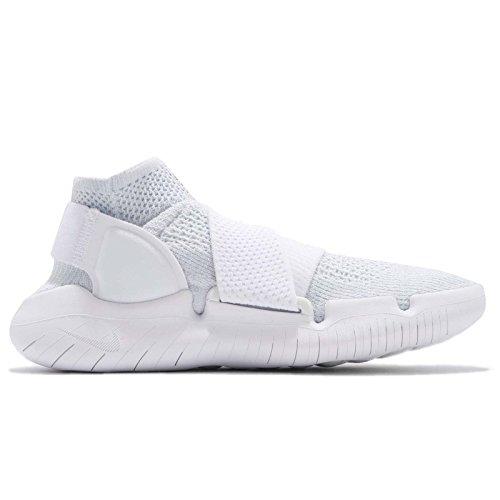 Nike W Rn Mouvement Libre Fk 2018 Des Femmes De 942841-100 Blanc / Noir Pur Platine