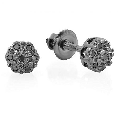 Tw Diamond Cluster Earrings - 5